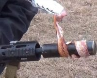 VIRAL VIDEO! There's Nothing More American Than Cooking BACON With Your M-16!