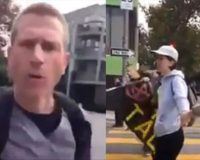WATCH: Furious Man On Way To Work Ends Traffic Blocking Climate Protest By Himself