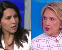 Watch As Tulsi Gabbard DESTROYS Hillary Clinton After She Tries To Pull A Bernie On Her