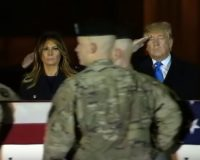Trump Makes Unscheduled Visit To Air Force Base To Receive 2 Fallen War Heroes