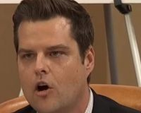 Matt Gaetz Gets Infuriated At Impeachment Hearing And Takes A Blow Torch To Democrat Witness