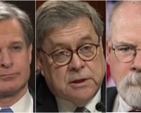 FBI Director Wray, Defends SpyGate And Throws America Under The Bus- AG Barr And Durham Not Buying It