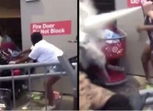 MN Riot Update: Target Store Looted- Elderly White Woman In Wheelchair Is Sprayed In Face With Fire Extinguisher, Attacked By Large Black Man For Trying To Stop Looting [VIDEOS]