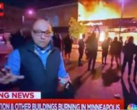 "MSNBC Reporter Standing In Front Of Burning Buildings: ""This Is Mostly A Protest…It Is Not Generally Speaking Unruly"""