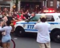 Watch As NYPD Vehicles Drive Straight Into Crowd of Rioters, de Blasio Supports Officers Actions