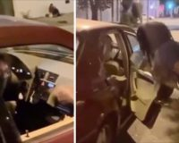 Black Woman Catches Mercedes Vehicle Filled With White People Wearing Black Bandanas (Antifa?) Giving Bricks To Black Kids…RIPS Them To Shreds [VIDEO]